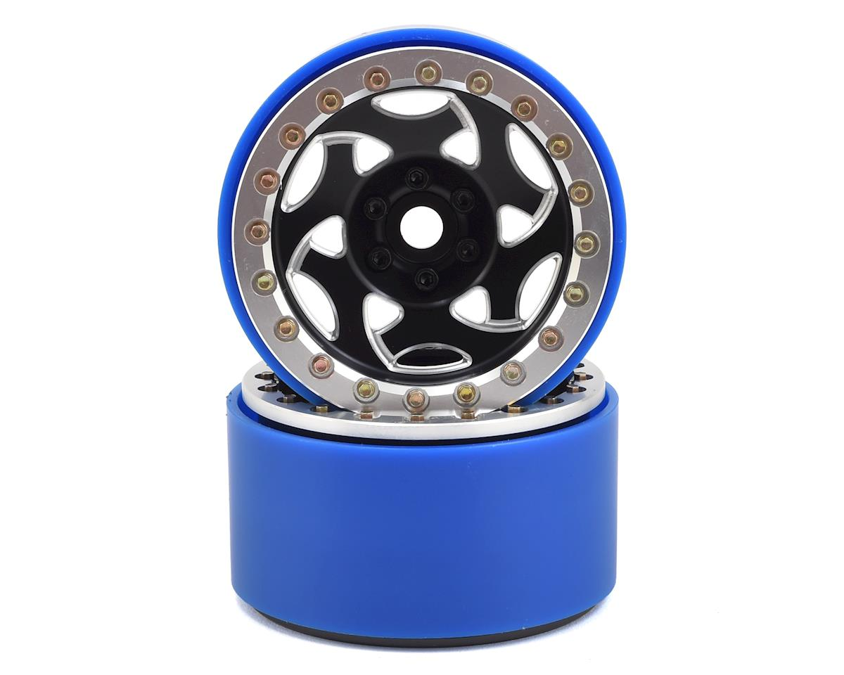 "SSD RC 2.2"" Champion PL Beadlock Wheels (Black/Silver)"