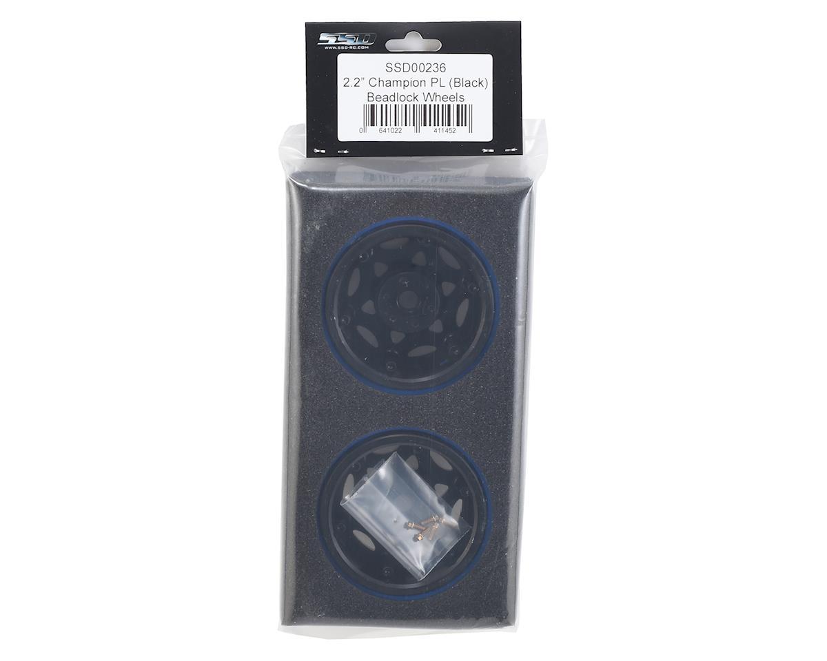 "SSD RC 2.2"" Champion PL Beadlock Wheels (Black/Silver)"