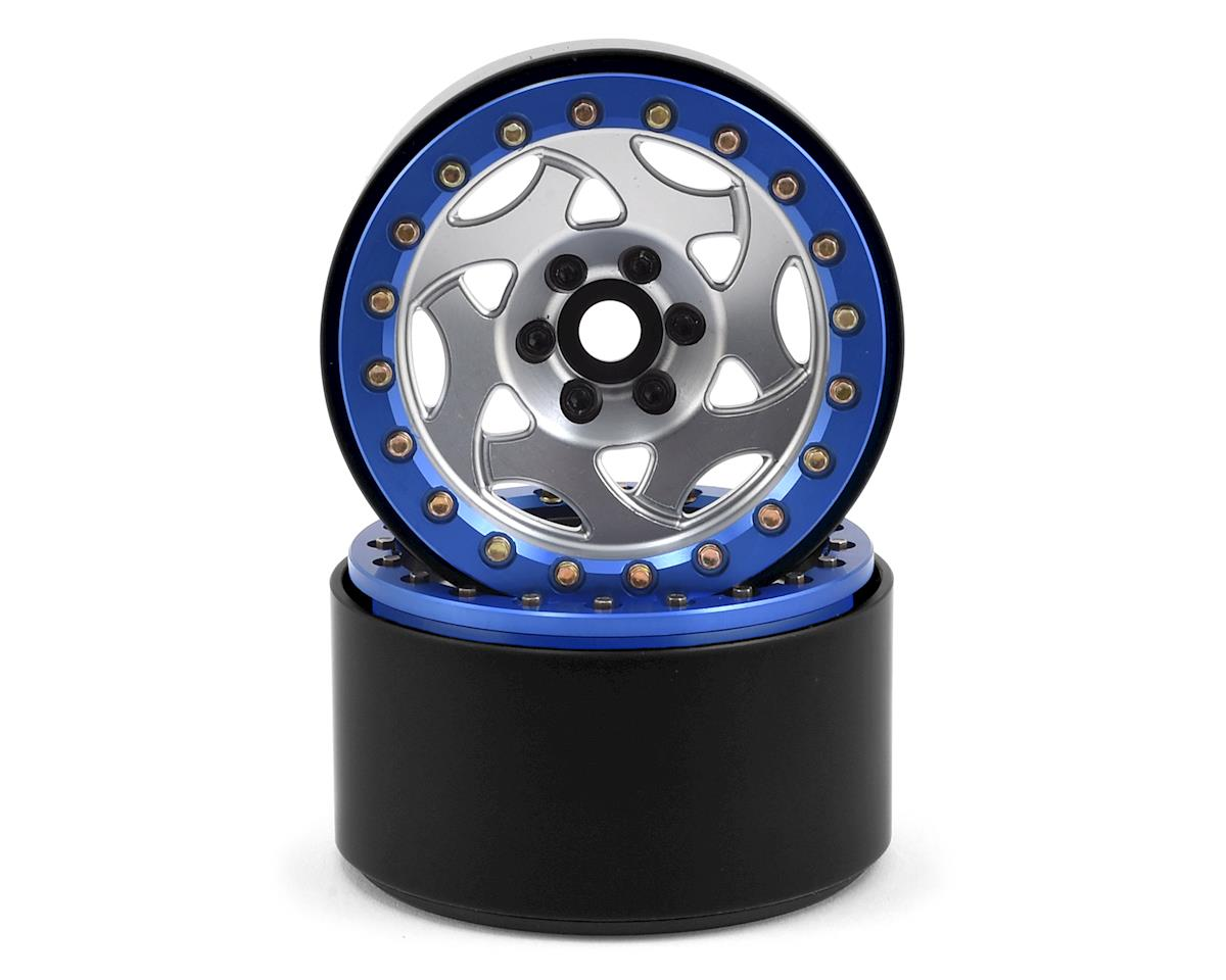 "2.2"" Champion Beadlock Wheels (Silver/Blue) by SSD RC"