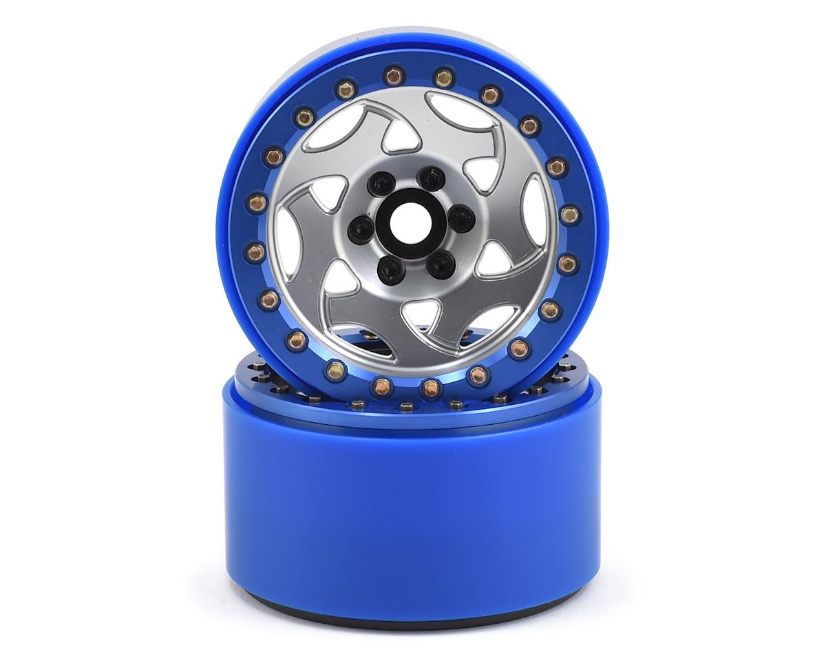 "SSD RC 2.2"" Champion PL Beadlock Wheels (Silver/Blue)"