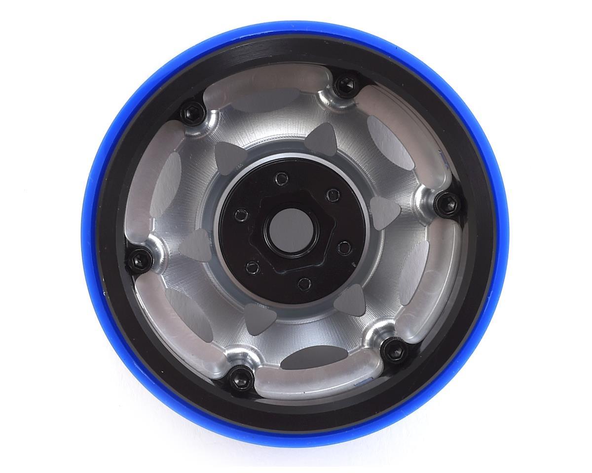 "SSD RC 2.2"" Champion PL Beadlock Wheels (Silver/Blue)"