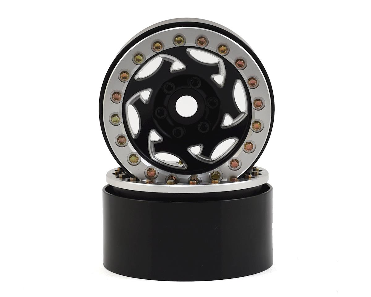"SSD RC 1.9"" Champion Beadlock Wheels (Black/Silver)"
