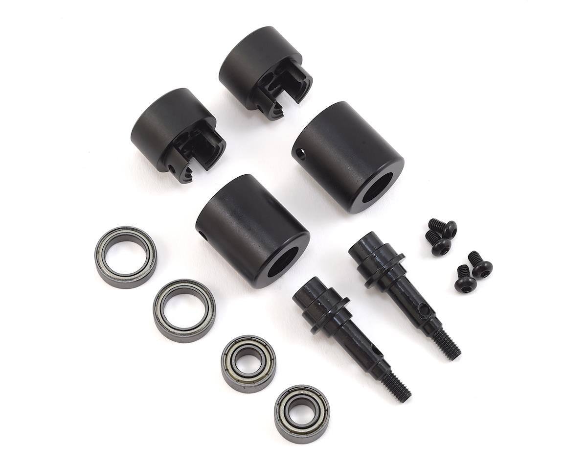 SSD RC TRX-4 Rear Axle Portal Delete Kit (Black)