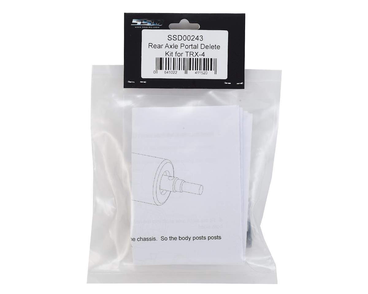 SSD RC TRX-4 Rear Axle Portal Delete Kit (Black)