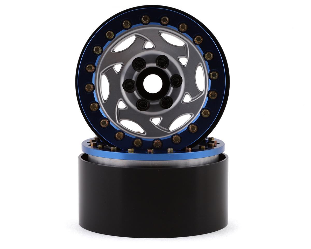 "SSD RC 1.9"" Champion Beadlock Wheels (Silver/Blue)"