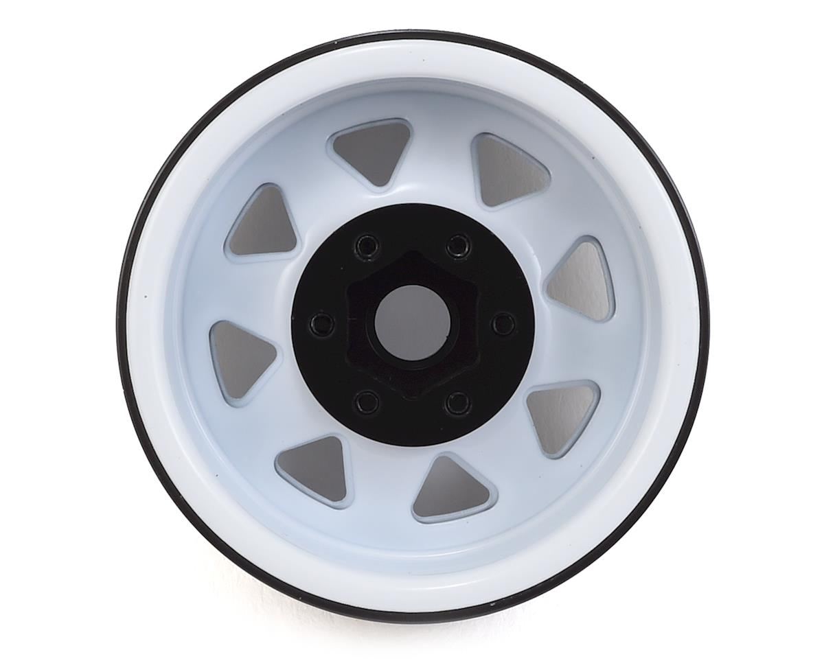 "SSD RC 1.9"" Steel 8 Spoke Beadlock Wheels (White) (2)"