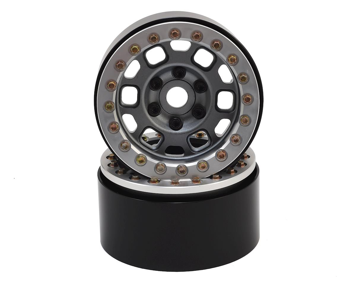 "1.9"" Contender Beadlock Wheels (Grey) (2)"