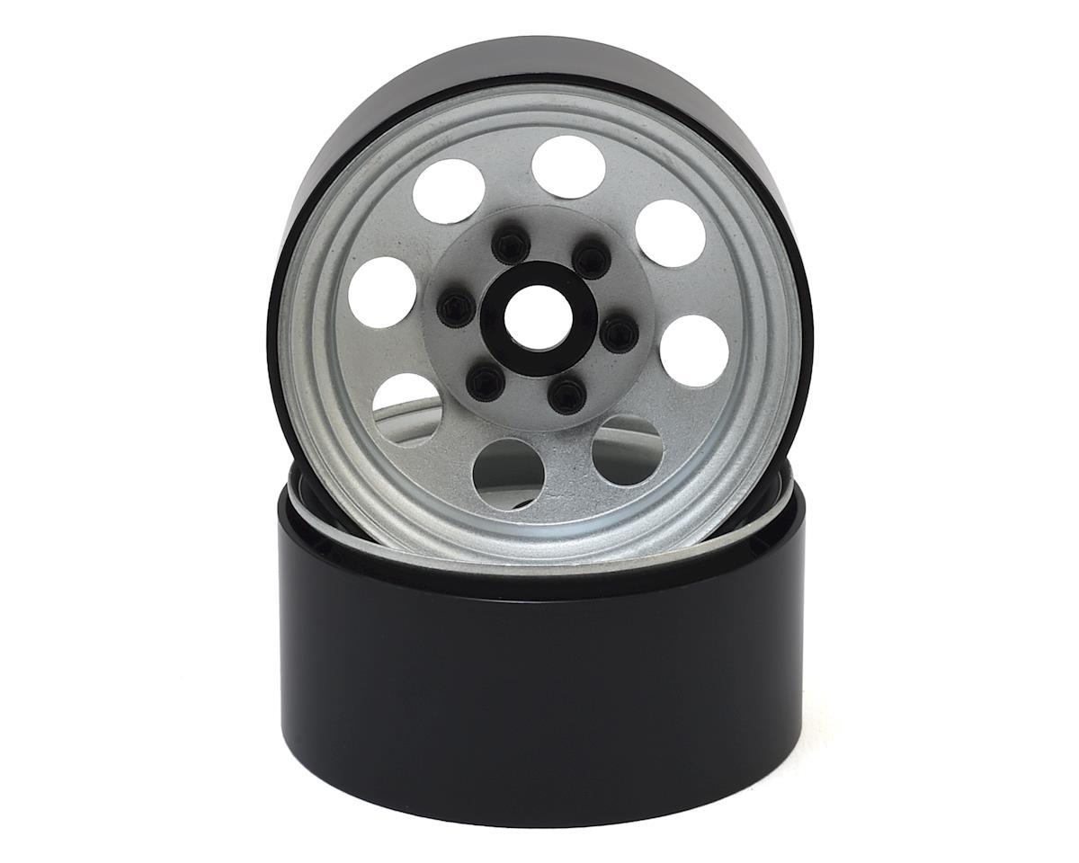 """SSD RC 8 Hole 1.9"""" Steel Beadlock Wheels (Silver)"""