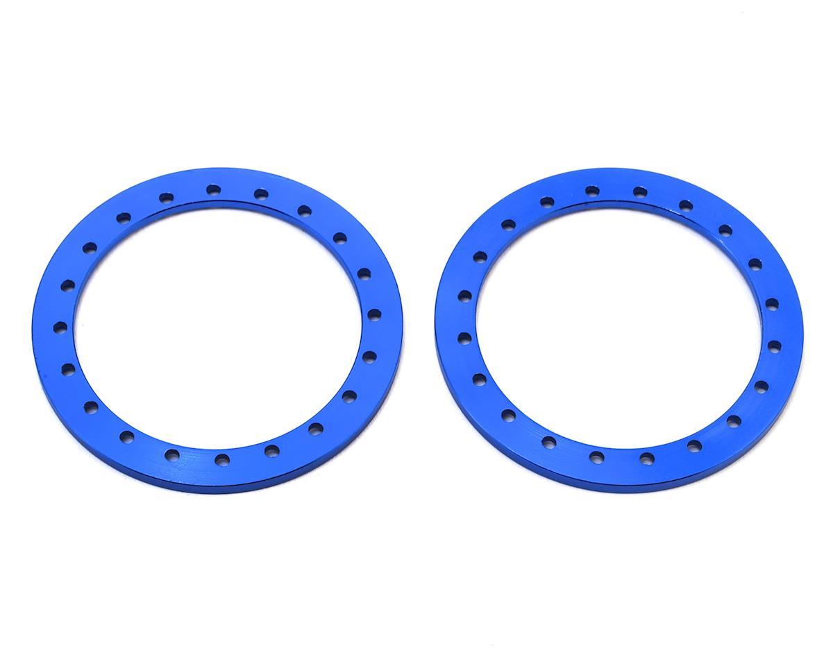 """SSD RC 1.9"""" Aluminum Beadlock Rings (Blue) (2)"""