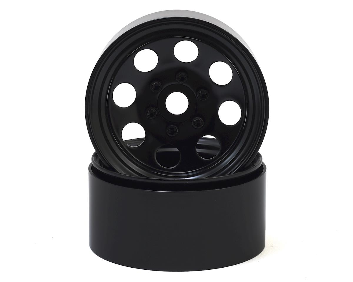 "SSD RC 8 Hole 1.9"" Steel Beadlock Wheels (Black)"