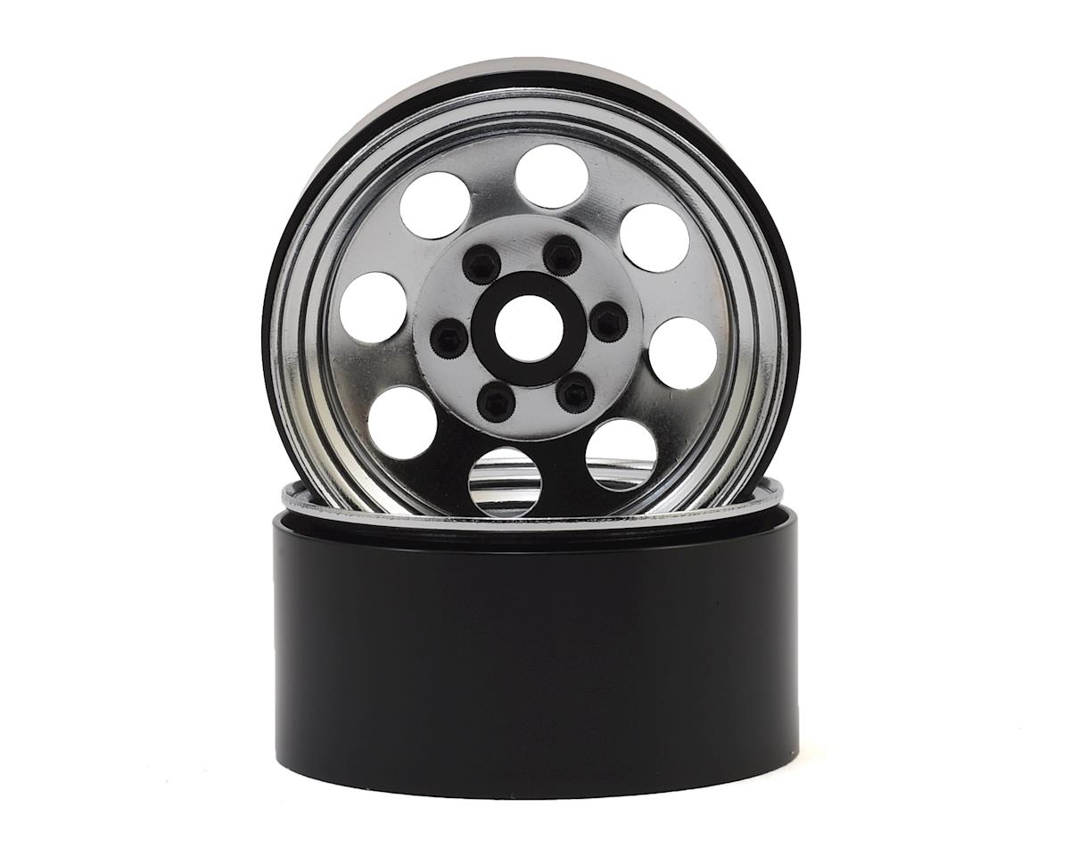 """SSD RC 8 Hole 1.9"""" Steel Beadlock Wheels (Chrome) 