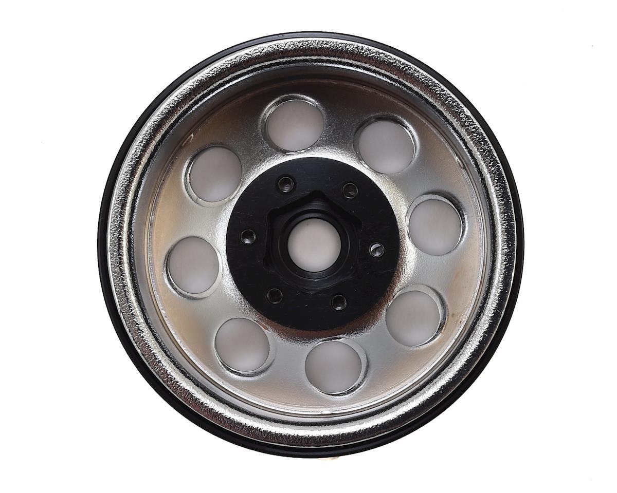 "SSD RC 8 Hole 1.9"" Steel Beadlock Wheels (Chrome)"