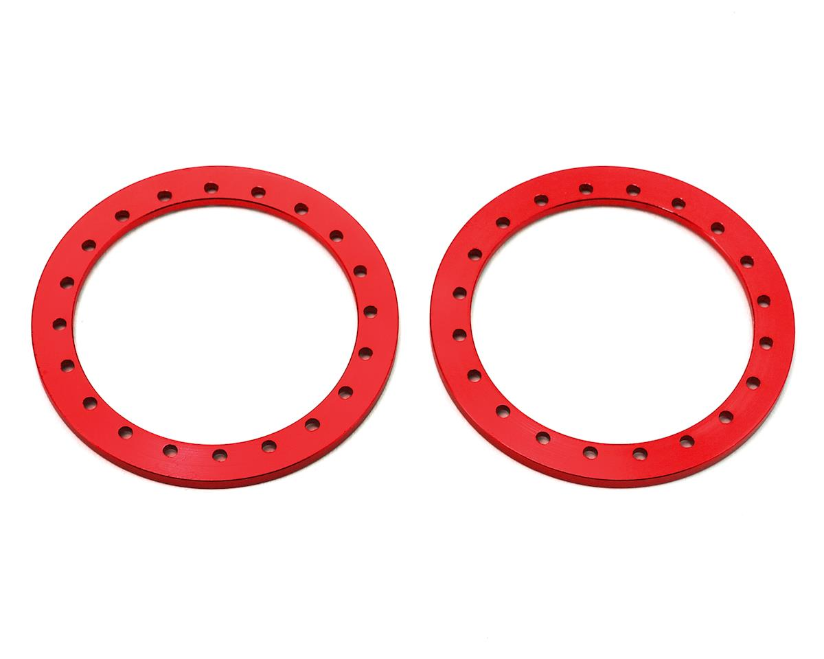 "SSD RC 1.9"" Aluminum Beadlock Rings (Red) (2)"
