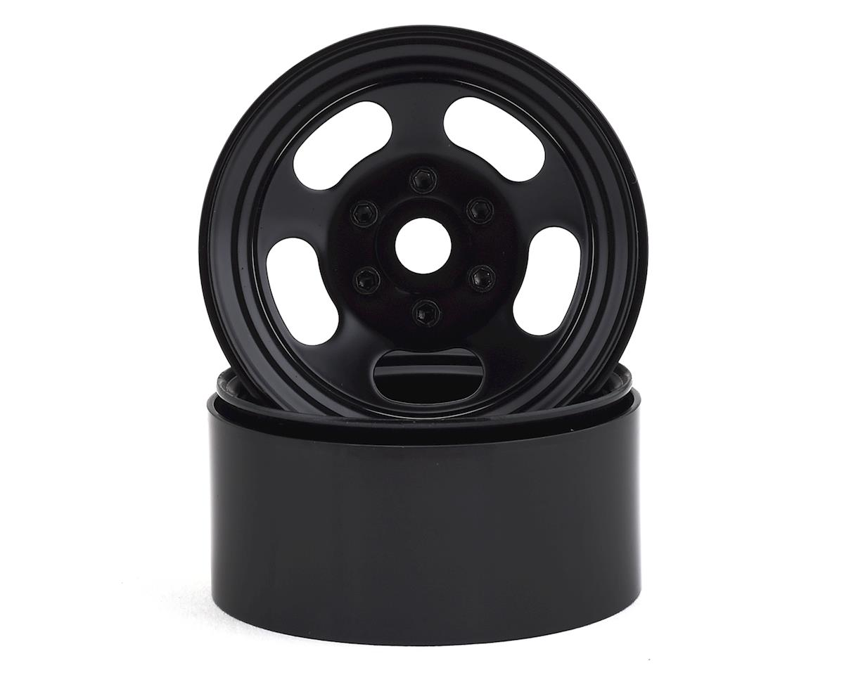 "SSD RC Slot 1.9"" Steel Beadlock Wheels (Black)"