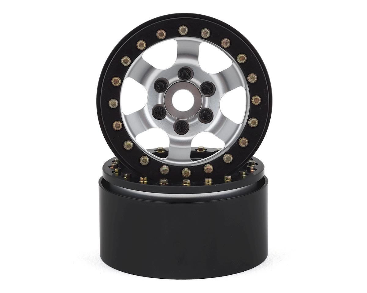 "SSD RC 1.9"" Rock Racer Wheels (Silver/Black) (2)"