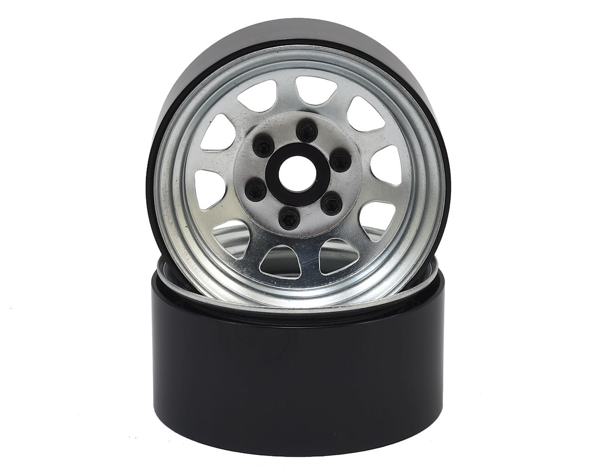 "SSD RC Stock 1.9"" Steel Beadlock Wheels (Silver)"