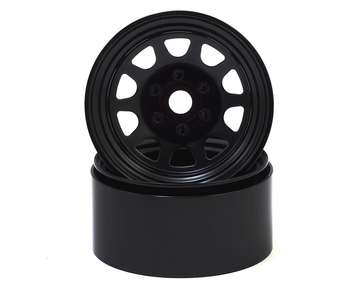 "SSD RC Stock 1.9"" Steel Beadlock Wheels (Black)"