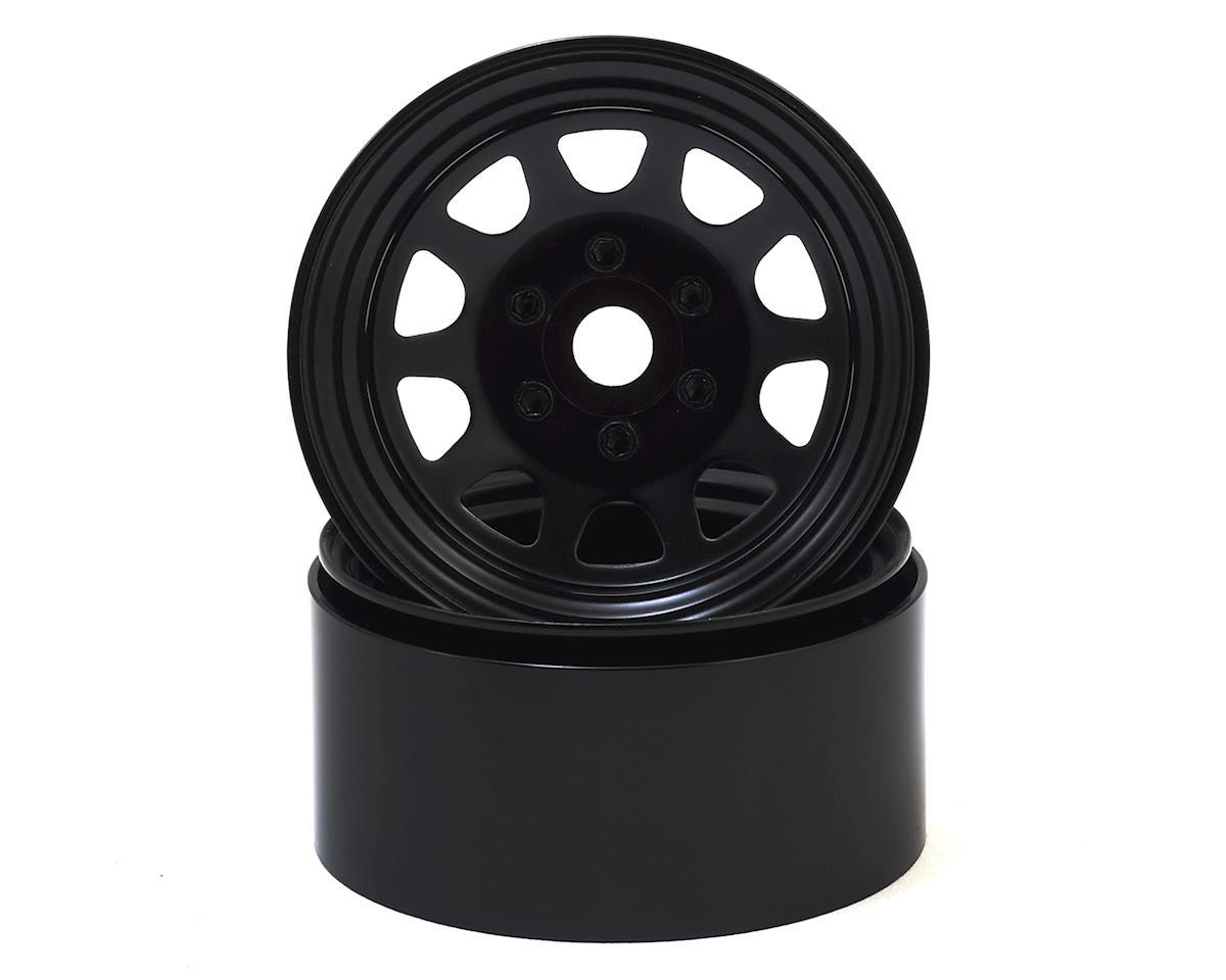 "SSD RC Stock 1.9"" Steel Beadlock Wheels (Black)"