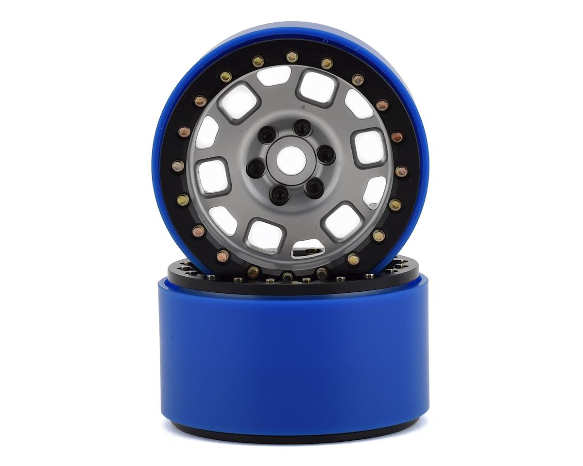 """SSD RC 2.2"""" Contender PL Beadlock Wheels (Silver) (2) (Pro-Line Tires)"""