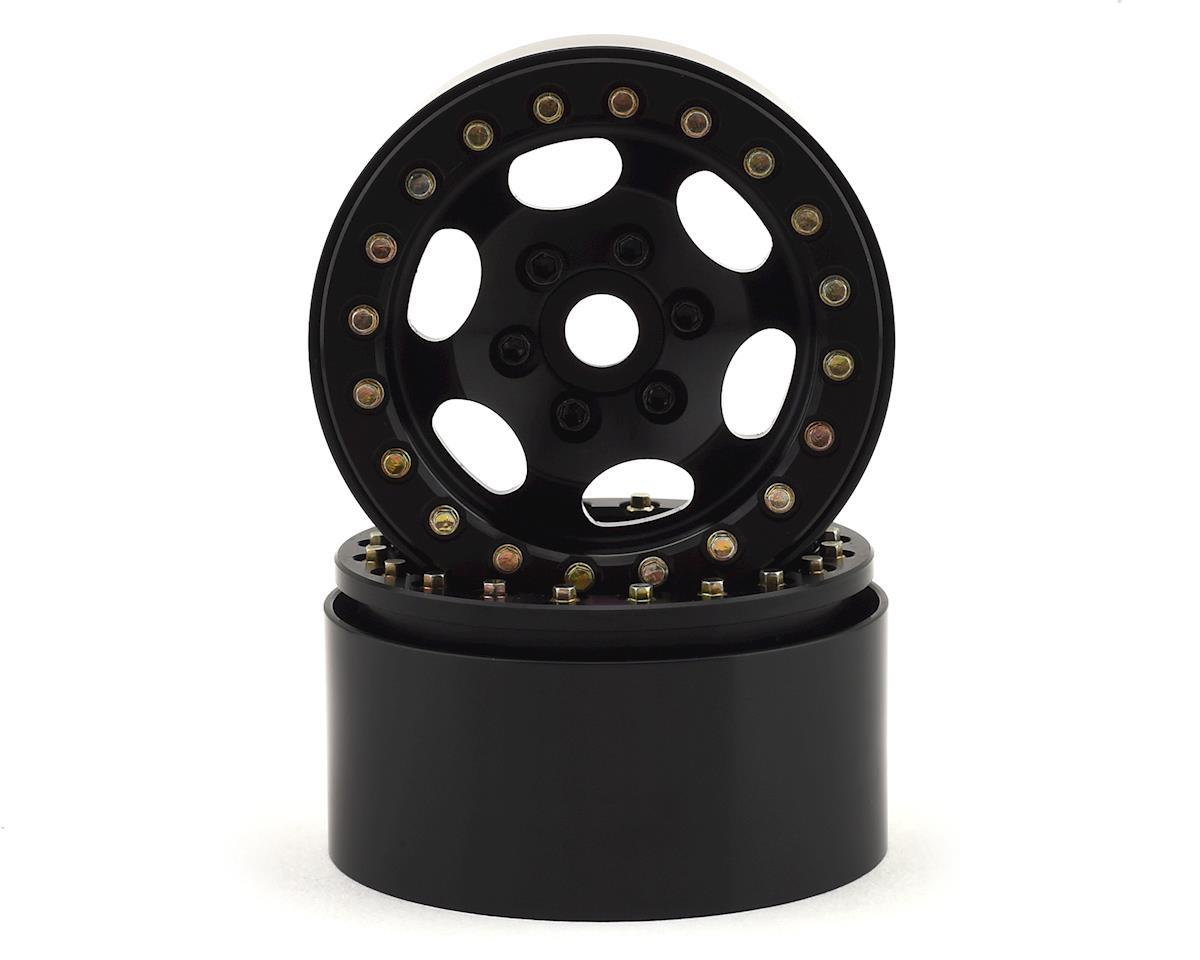 "SSD RC 1.9"" Rugged Beadlock Wheels (Black) (2)"