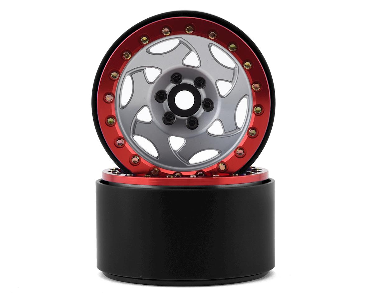 SSD RC 2.2 Champion Beadlock Wheels (Silver/Red) (GMade BOM)