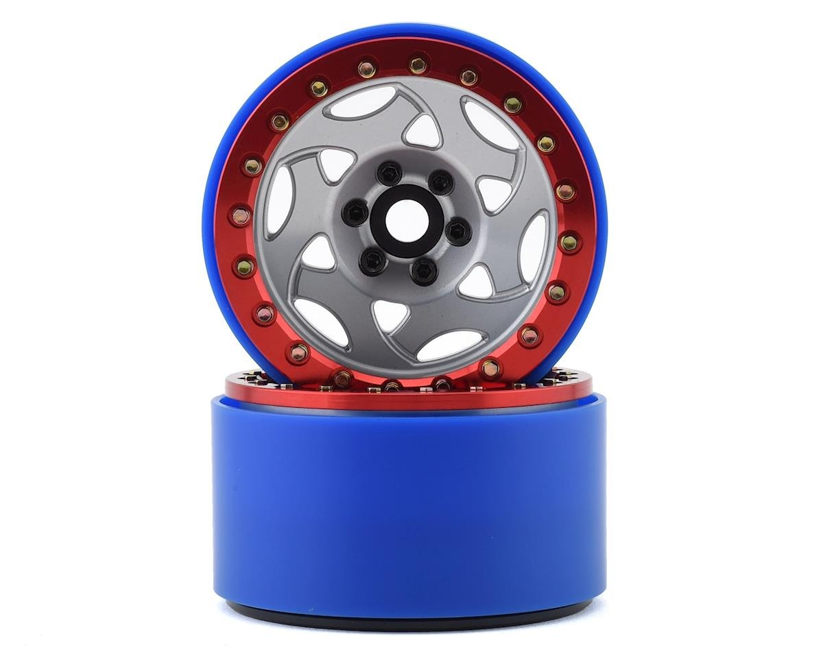 SSD RC 2.2 Champion PL Beadlock Wheels (Silver/Red) (GMade BOM)