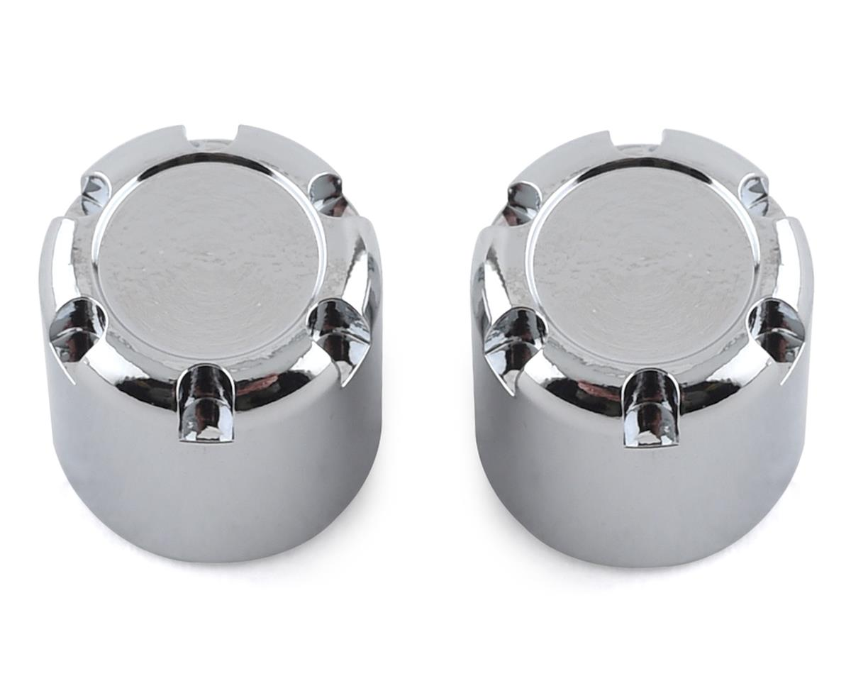 SSD RC Scale Rear Hubs (Chrome) (2)