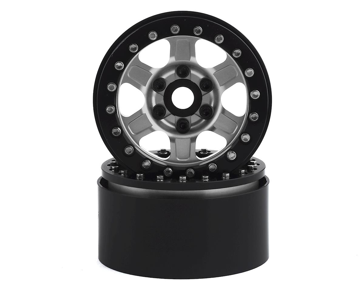 "SSD RC 1.9"" Challenger Beadlock Wheels (Silver) (2)"