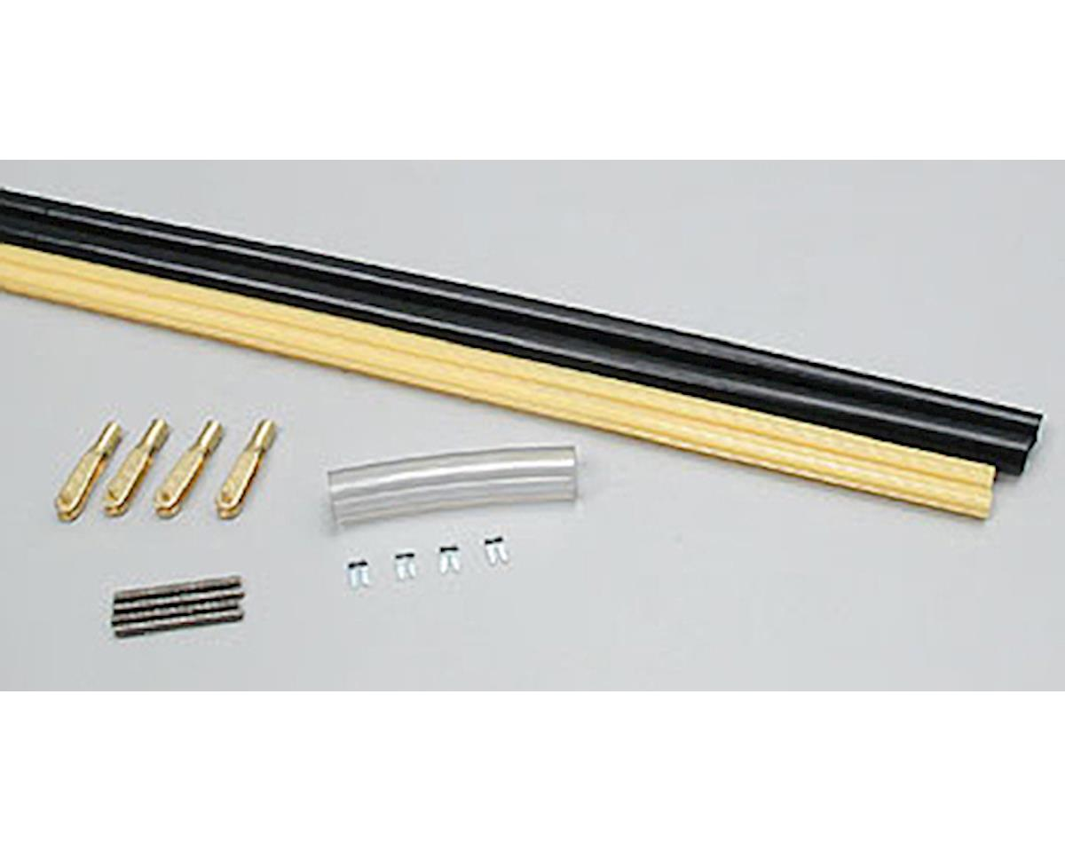 Sullivan Pushrods 4-40 Black/Gold Clevis,60""