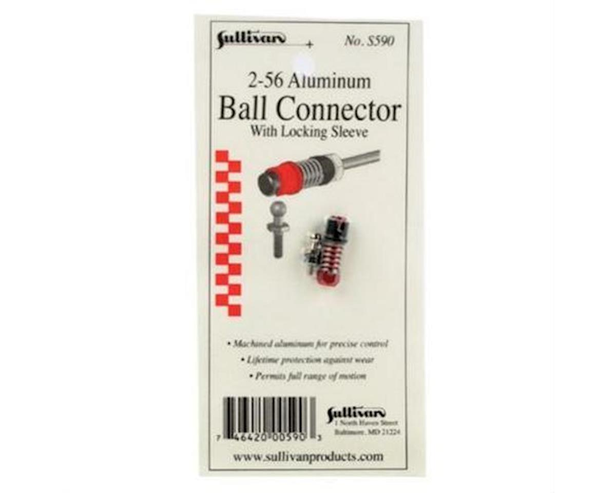 2-56 Aluminum Ball Link with Lociking Sleeve (Red) by Sullivan
