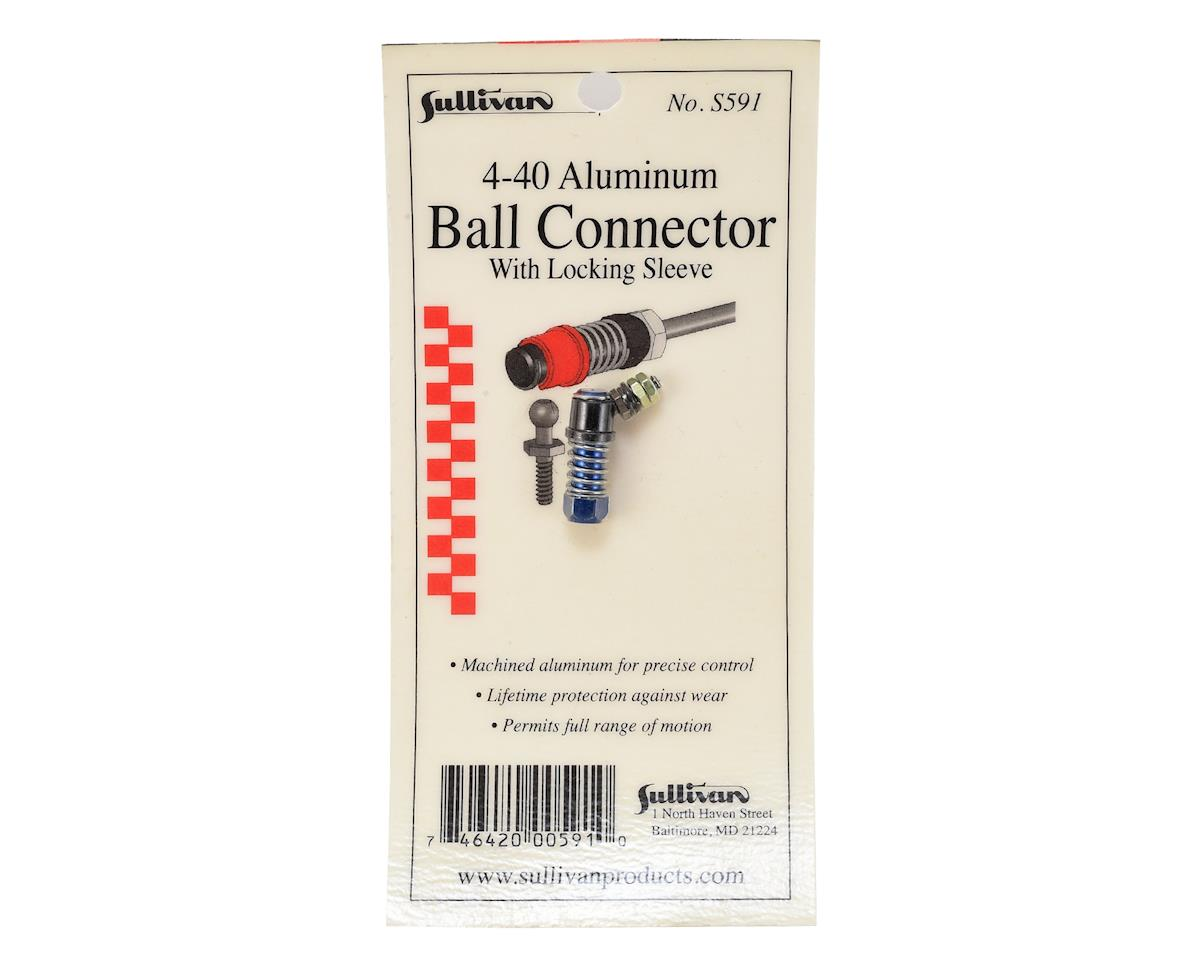4-40 Aluminum Ball Link w/Locking Sleeve (Blue) by Sullivan