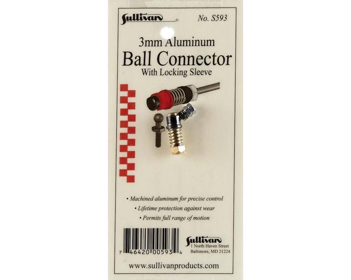 3mm Aluminum Ball Link with Locking Sleeve (Gold) by Sullivan