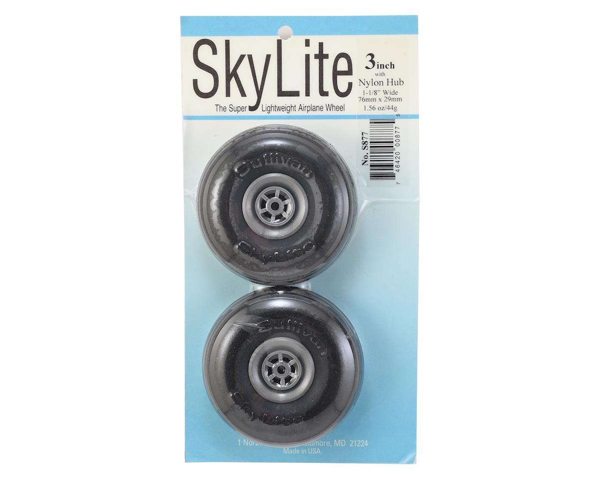 """3"""" Skylite Super Lightweight Airplane Wheels w/Treads (2) by Sullivan"""
