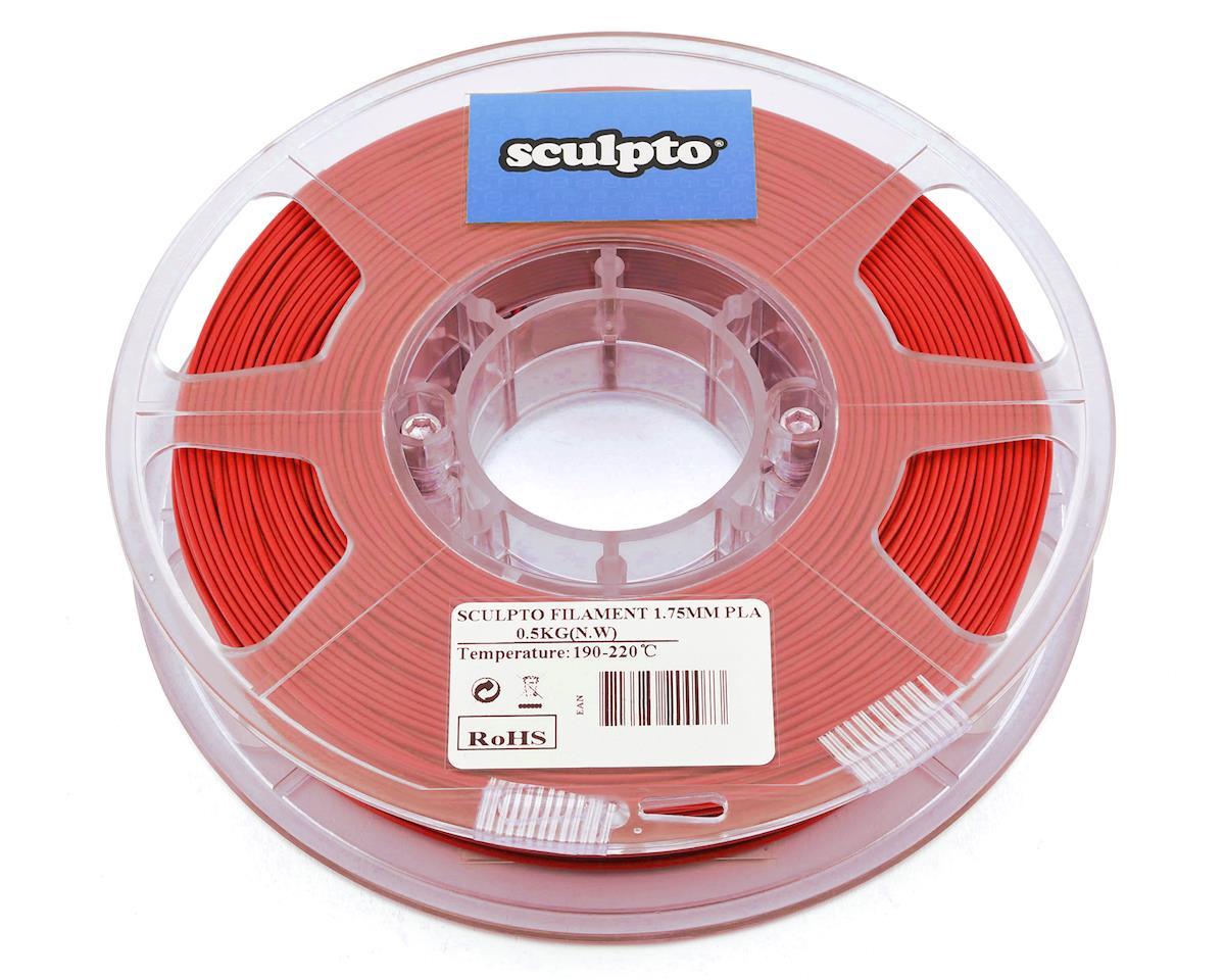 Sculpto 1.75mm PLA 3D Printer Filament (Red) (0.5kg)