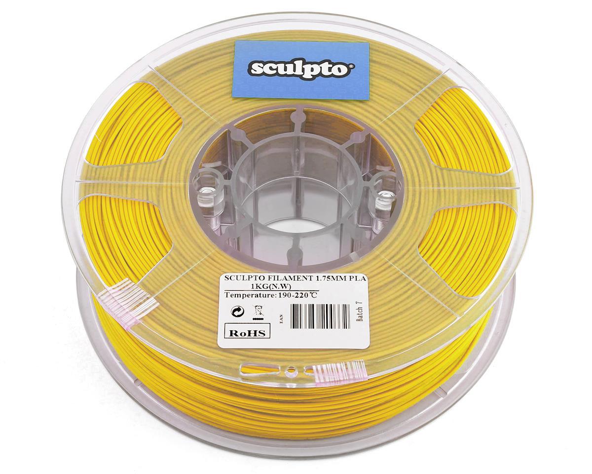 Sculpto 1.75mm PLA 3D Printer Filament (Yellow) (1kg)