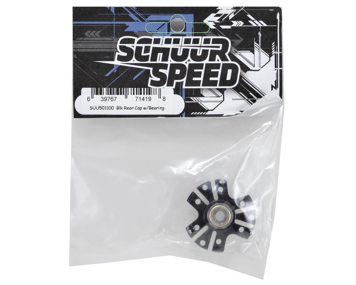 SchuurSpeed Rear End Cap w/Bearing (Black)