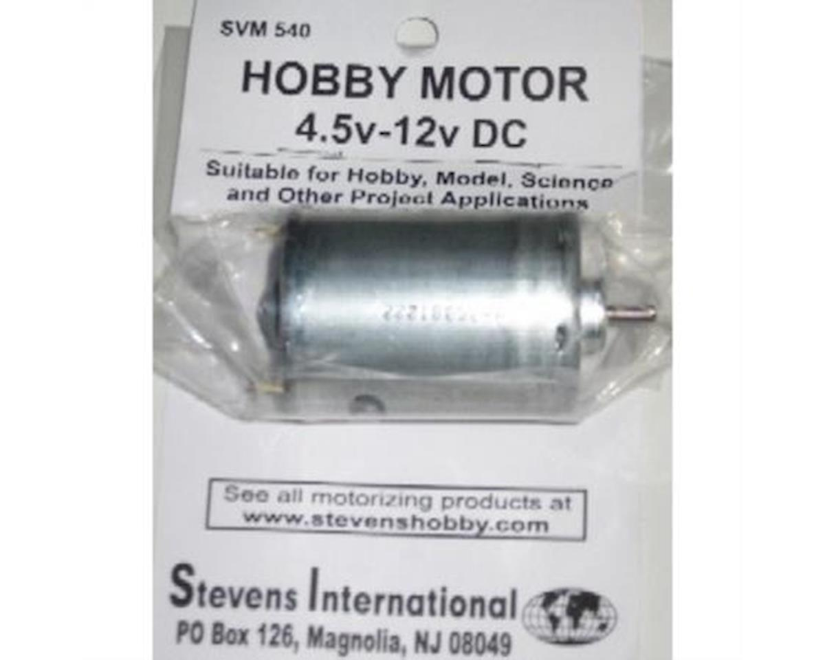 Stevens 4.5 to 12v DC Small Electric Motor (Round Can) (fo