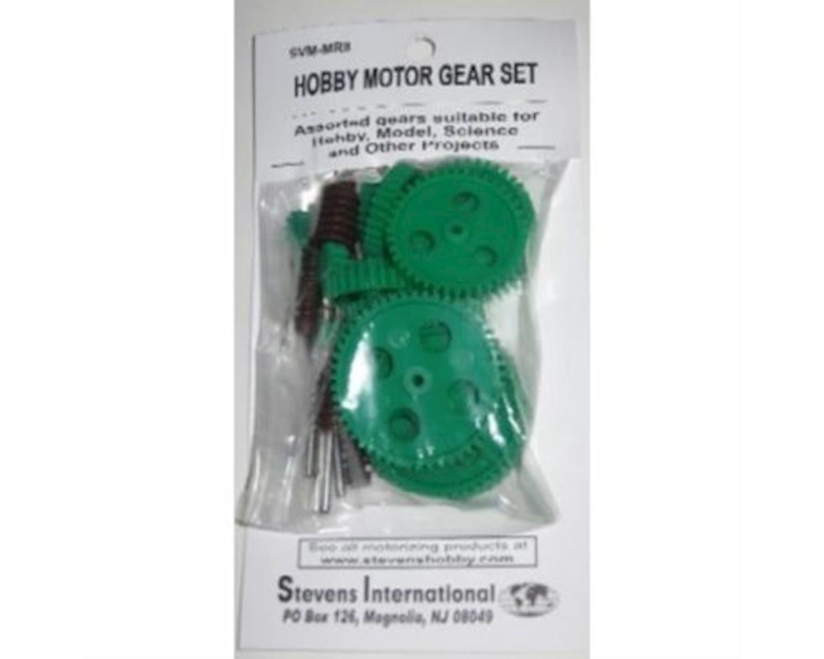 Stevens Assorted Large Plastic Motor Gears & Metal Shafts