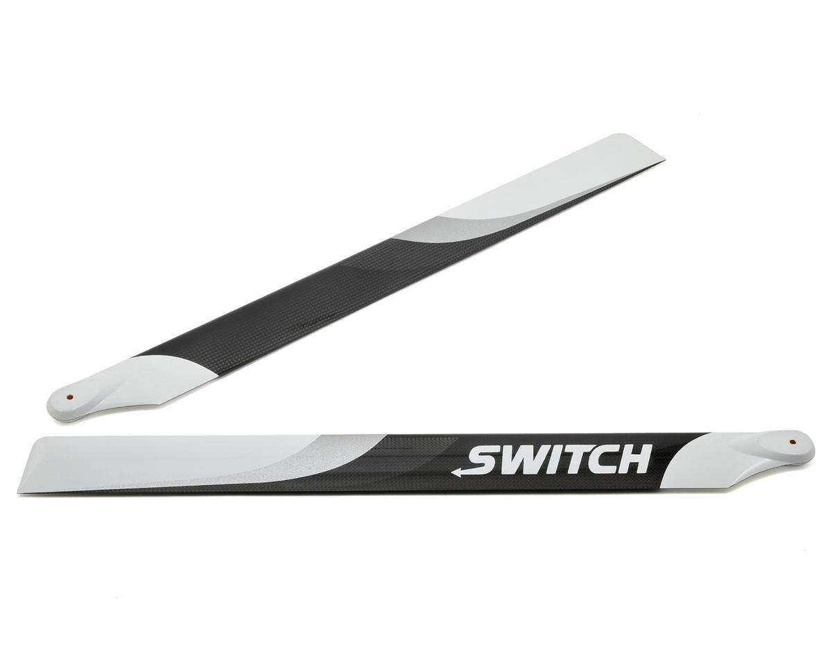 Switch Blades 523mm Premium Carbon Fiber Rotor Blade Set (Flybarless)