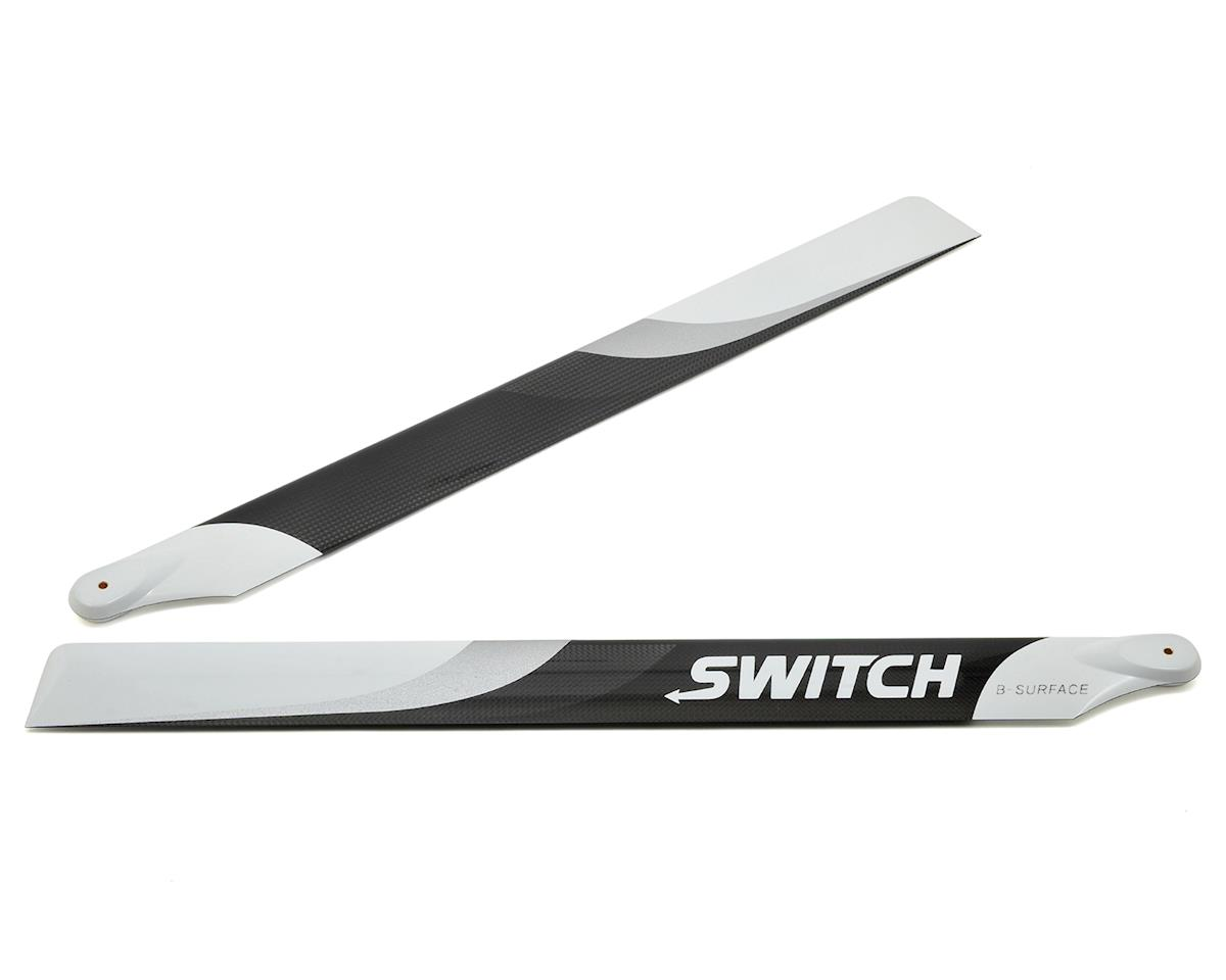 Switch Blades 553mm Premium Carbon Fiber Rotor Blade Set (B-Surface)