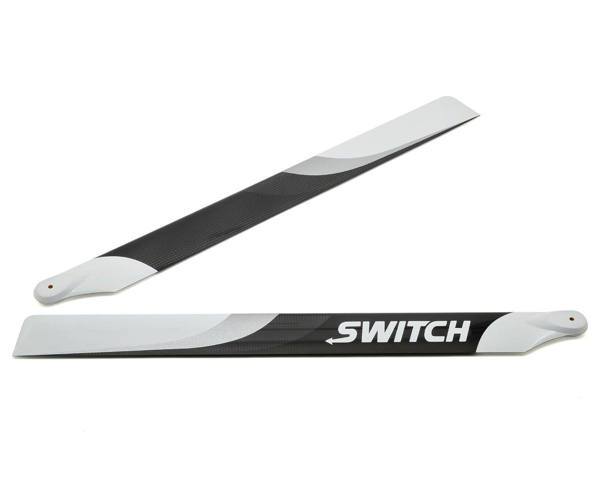 553mm Premium Carbon Fiber Rotor Blade Set (Flybarless) by Switch Blades