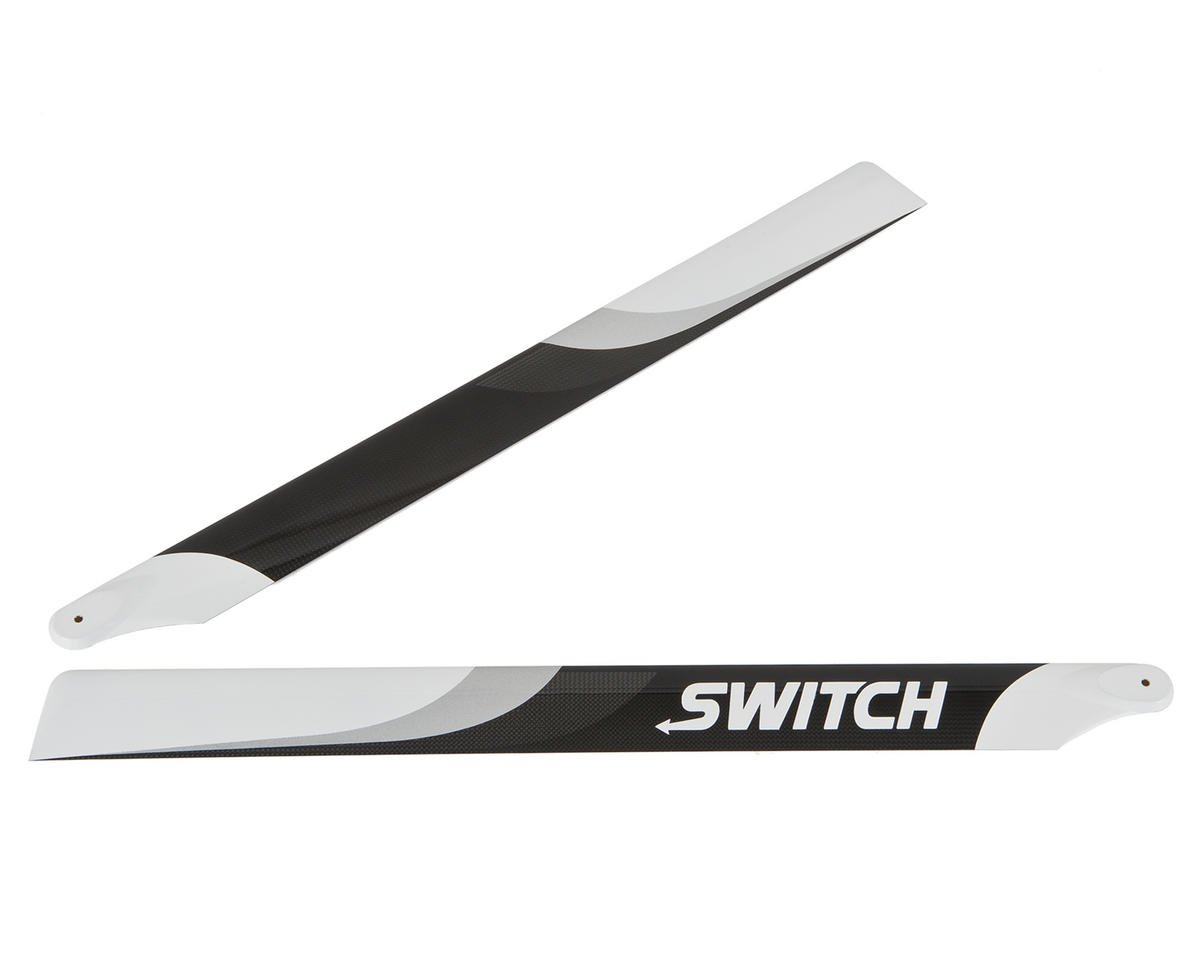 Switch Blades 603mm Premium Carbon Fiber Rotor Blade Set (Flybarless)
