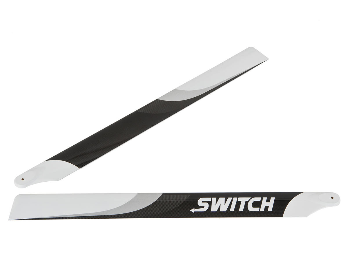Switch Blades 623mm Premium Carbon Fiber Rotor Blade Set (Flybarless)