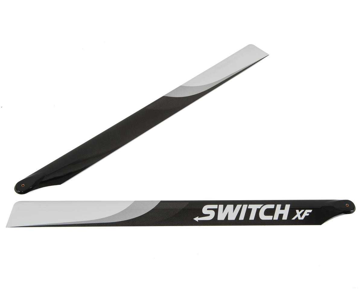 713mm XF Premium Carbon Fiber Rotor Blade Set (Flybarless) by Switch Blades (Synergy N7)