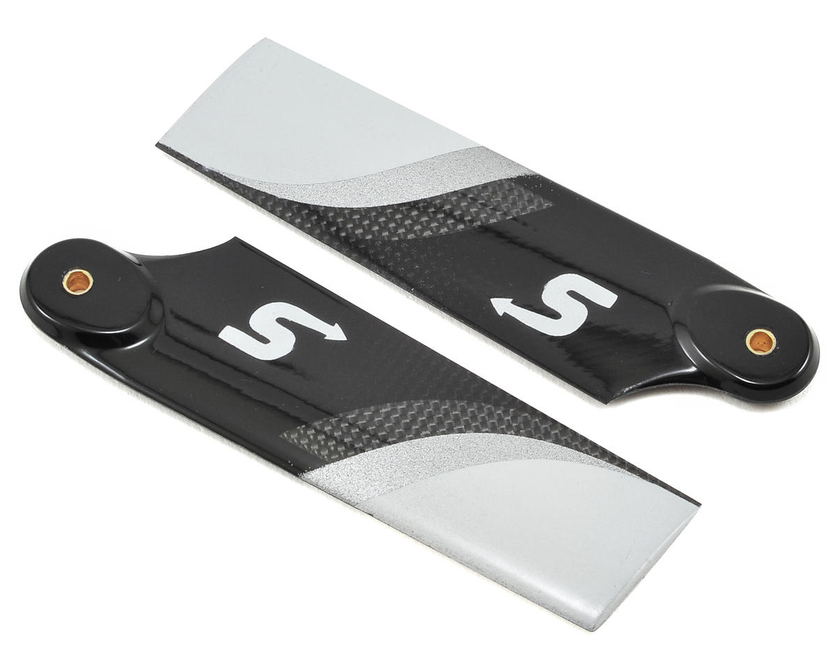 72mm Premium Carbon Fiber Tail Rotor Blade Set by Switch Blades