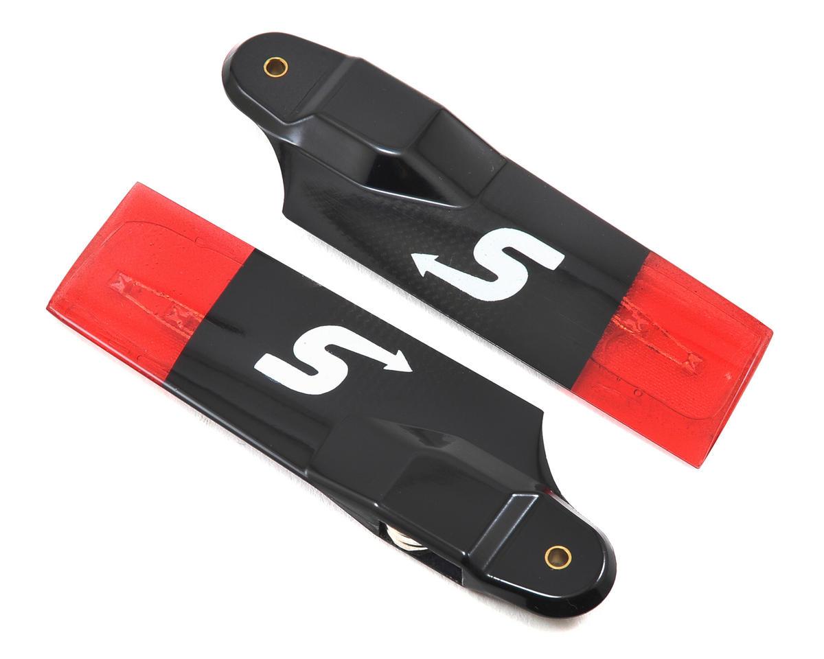 Switch Blades 95mm Premium Carbon Fiber Night Tail Rotor Blade Set