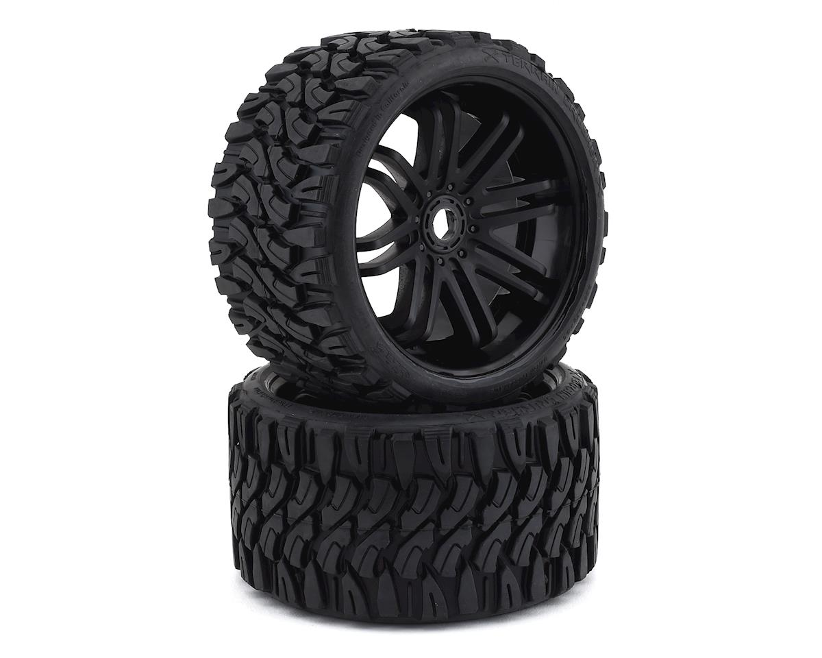 Sweep Terrain Crusher Belted Pre-Mounted Monster Truck Tires (Black) (2) (Traxxas E-Maxx)