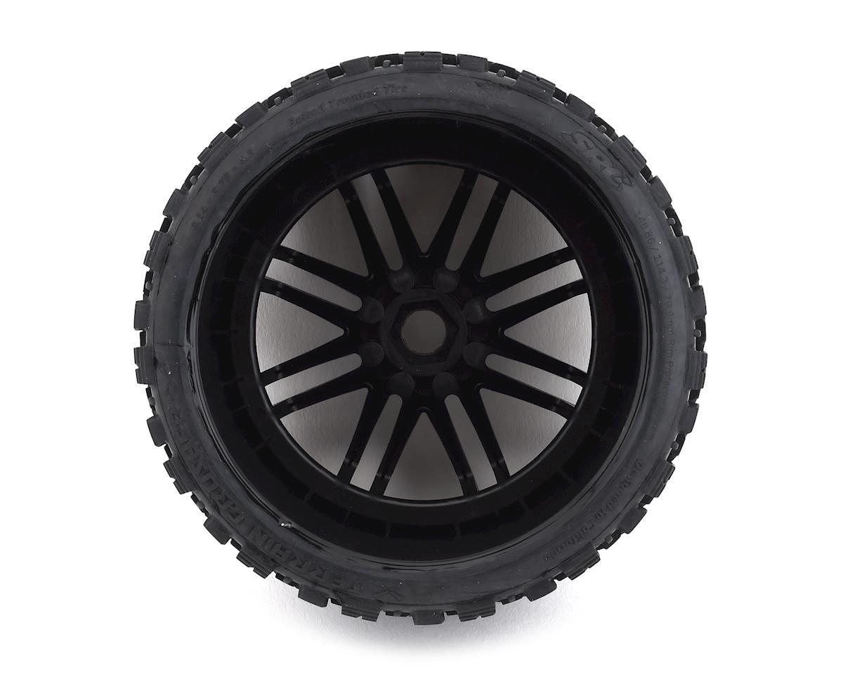 Sweep Terrain Crusher Belted Pre-Mounted Monster Truck Tires (Black) (2)