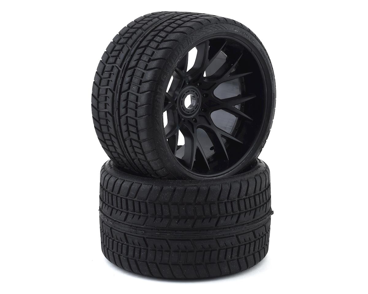 Sweep Road Crusher Belted Pre-Mounted Monster Truck Tires (Black) (2) (Arrma Outcast 6S BLX)