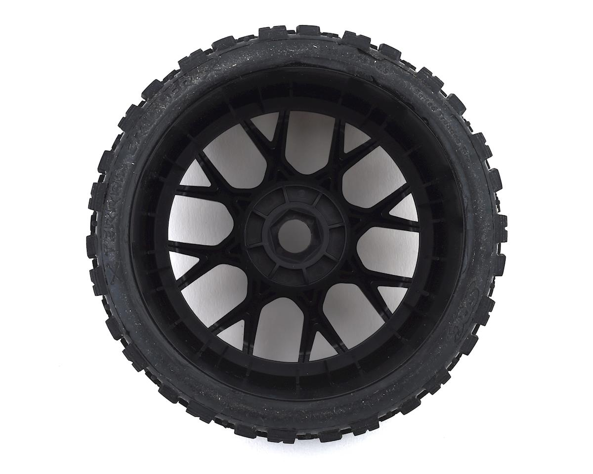 Image 2 for Sweep Terrain Crusher Belted Pre-Mounted Monster Truck Tires (Black) (2)